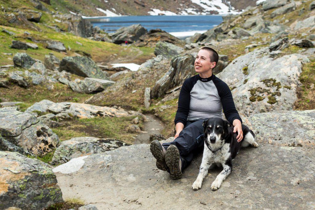 Jag och Dimva vid Trollsjön