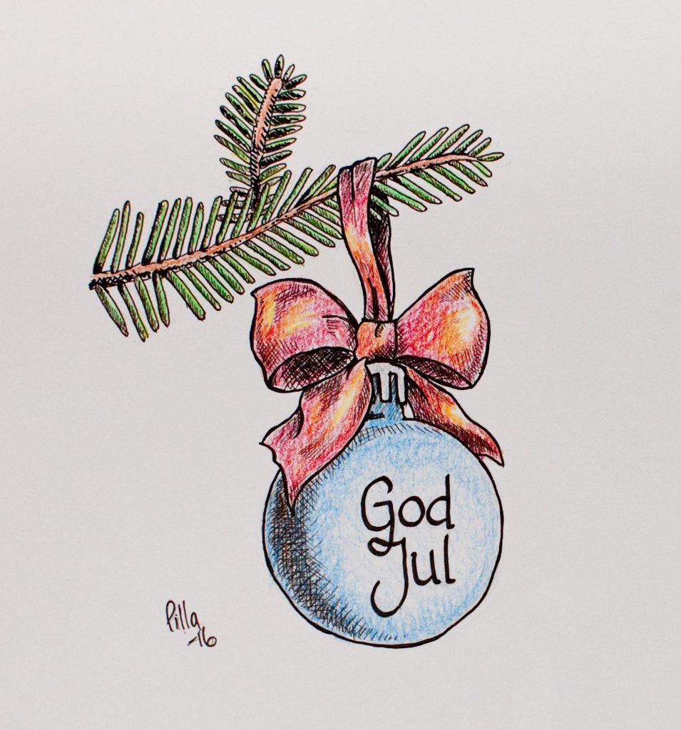Teckning av julkula