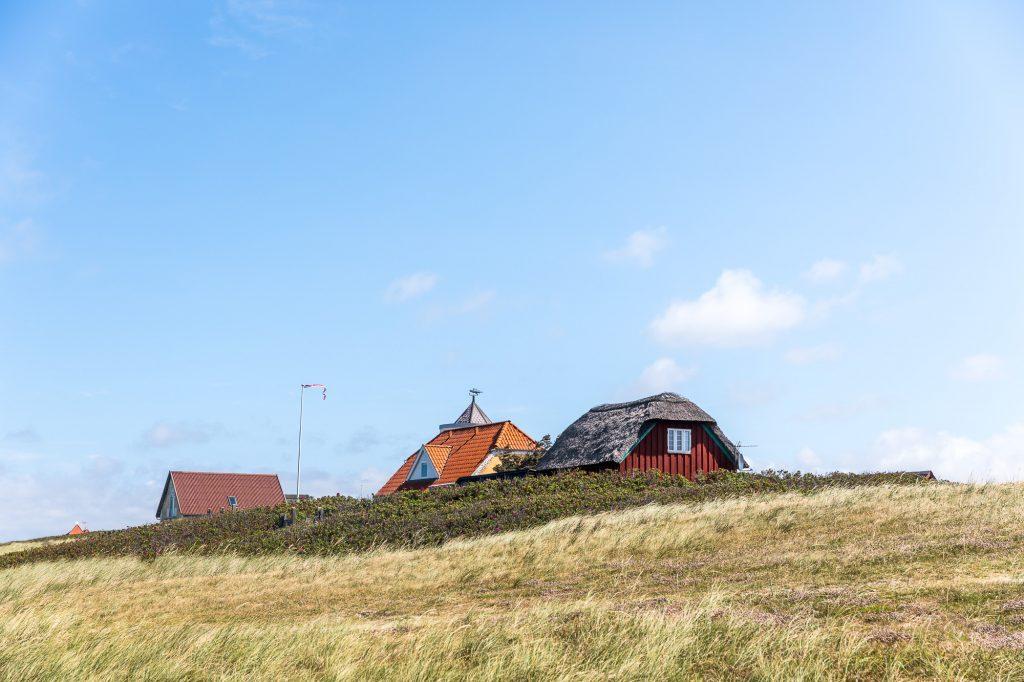Hus med halmtak