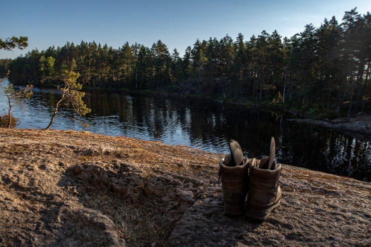Good morning! Airing my hiking boots, Sörmlandsleden 23
