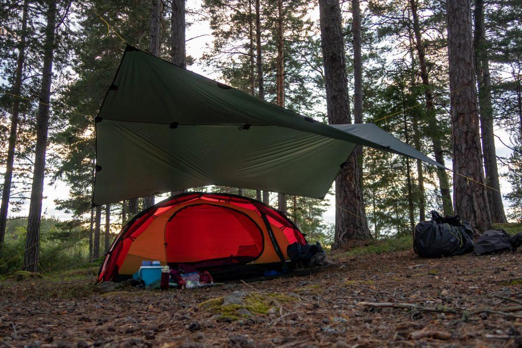 Hilleberg Niak, tält, med tarp