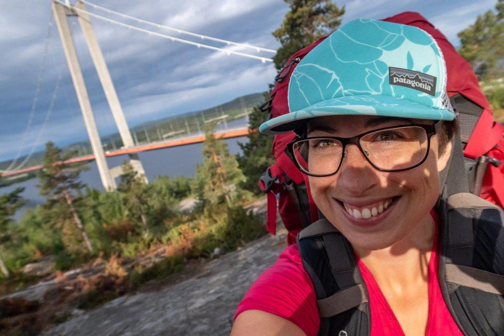 Selfie vid Höga kusten-bron