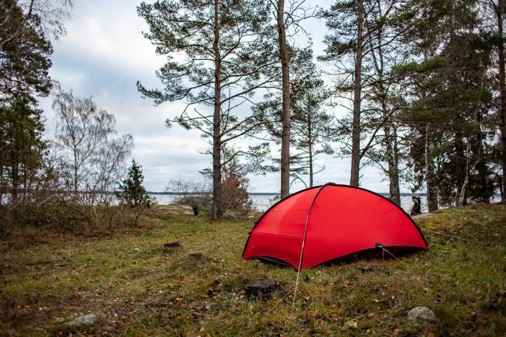 Utsikt från tältplats