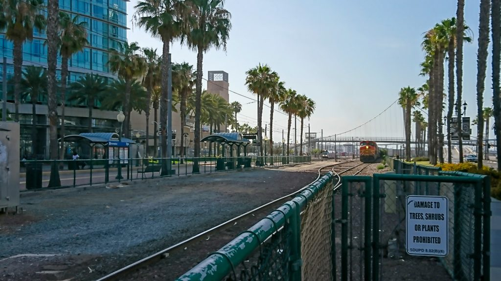 Tågkorsning i San Diego