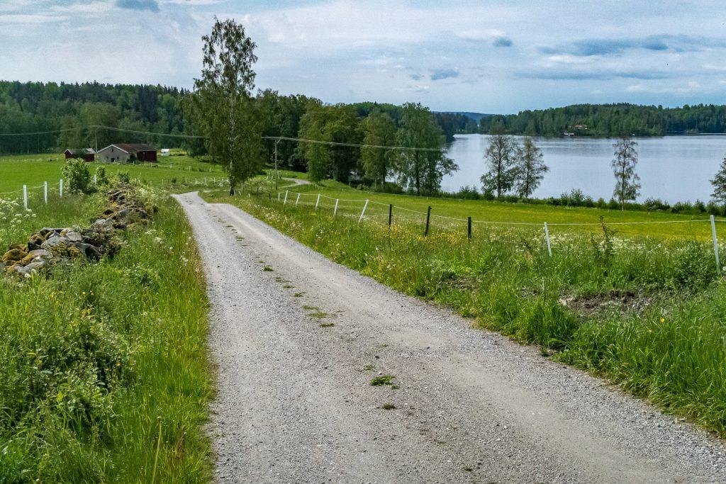 Grusväg längs Bergslagsleden