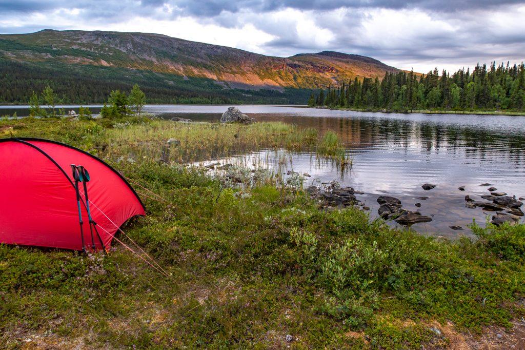 Fantastisk lägerplats vid Pårte