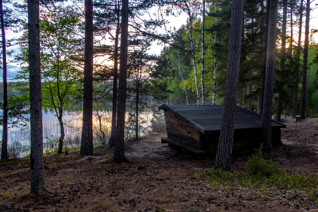 Vindskyddet vid Björnsjön, Sörmlandsleden etapp 31