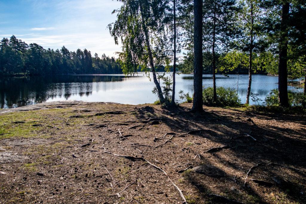 Badplats vid Stora Älgsjön