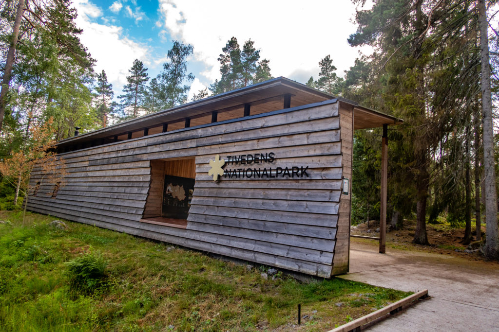 Huvudentrén till Tivedens nationalpark