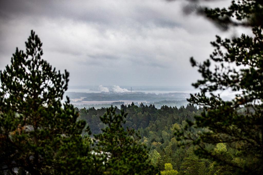 Utsikt över Bråviken från Torsborgen