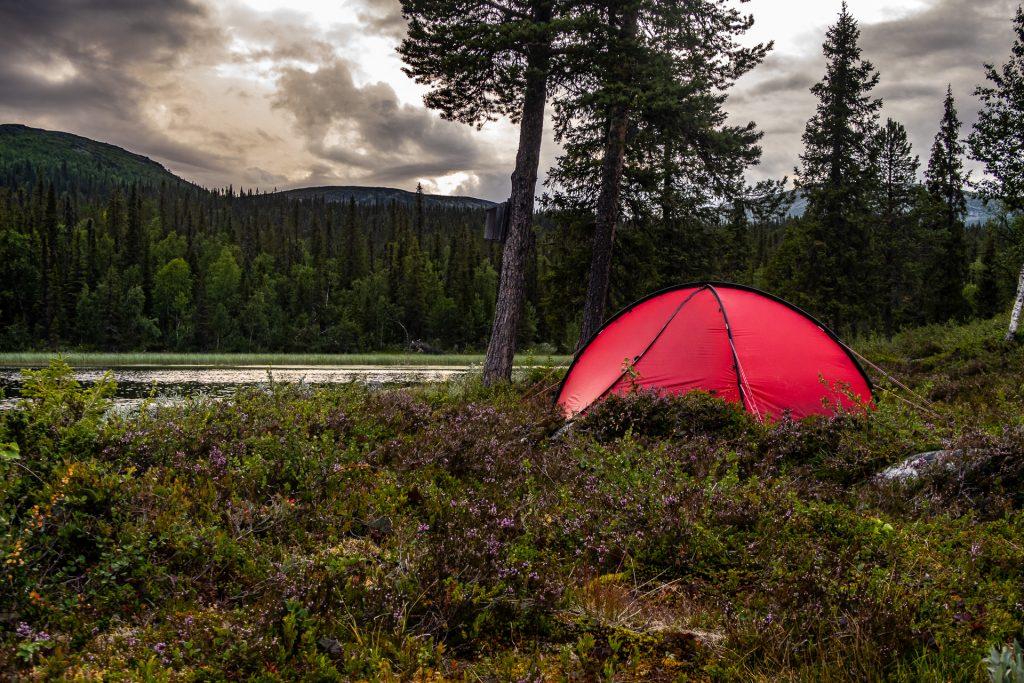Great campsite at Pårte