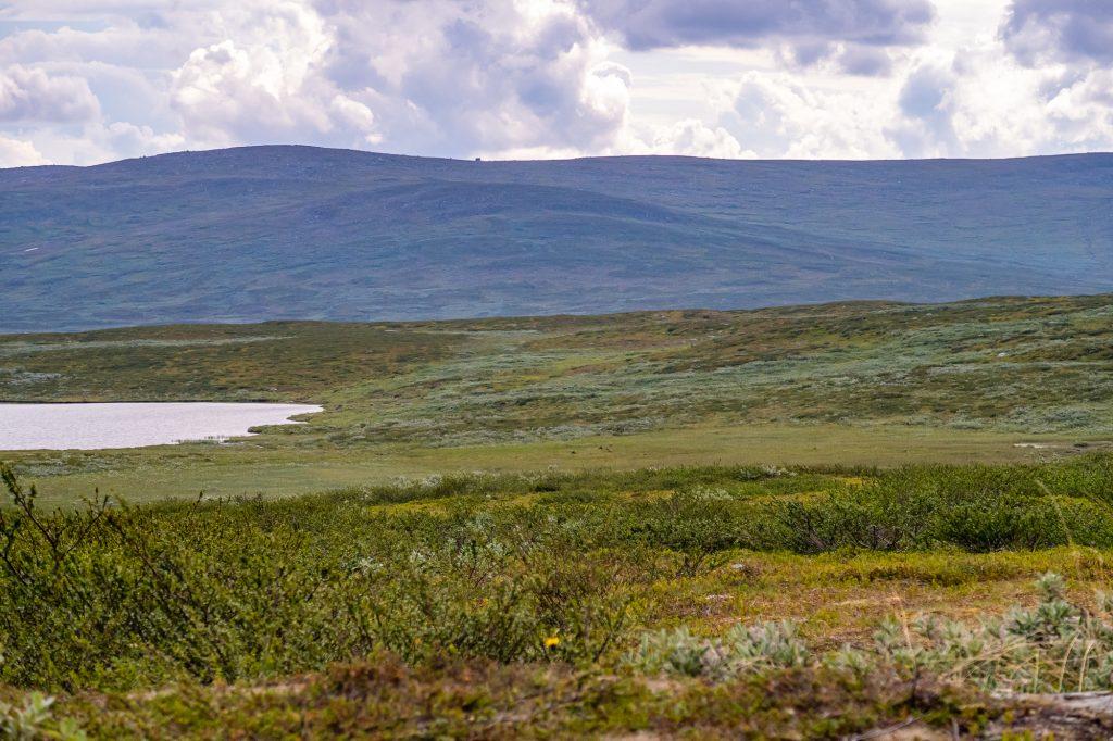 Med utsikt emot Juovvatjåhkka