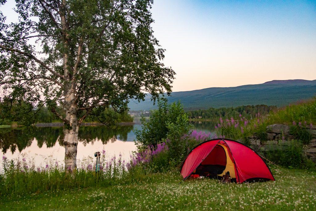 Camping vid Jäckvik