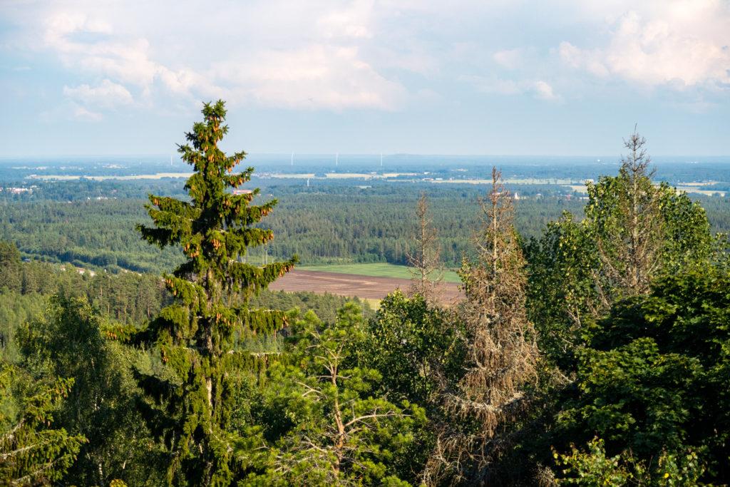 Utsikt över Lekhytteklint, från Bergslagsleden