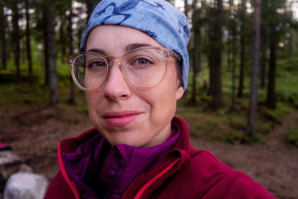 Pernilla Lindblom, på vandring längs Bergslagsleden