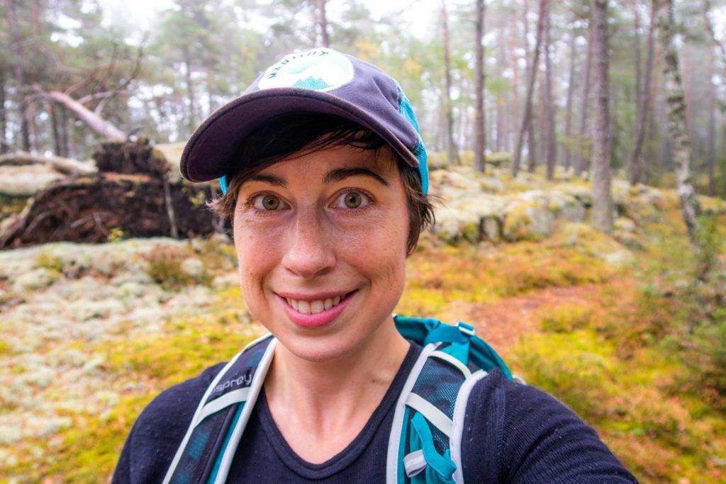 Selfie i skogen