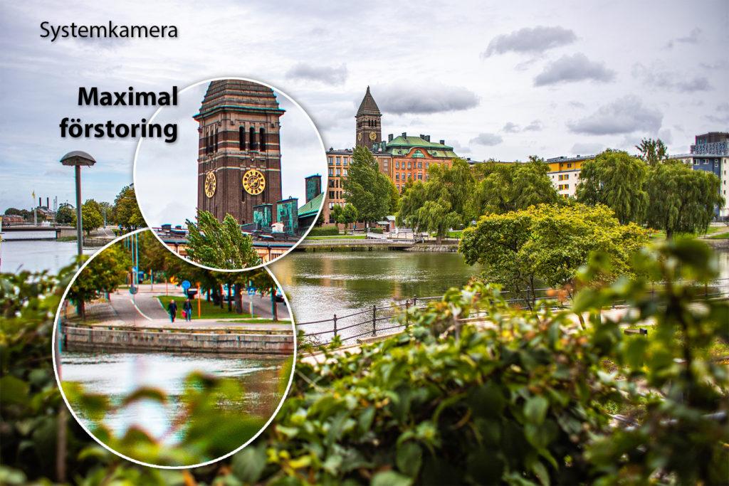 Stadsvy fotat med systemkamera