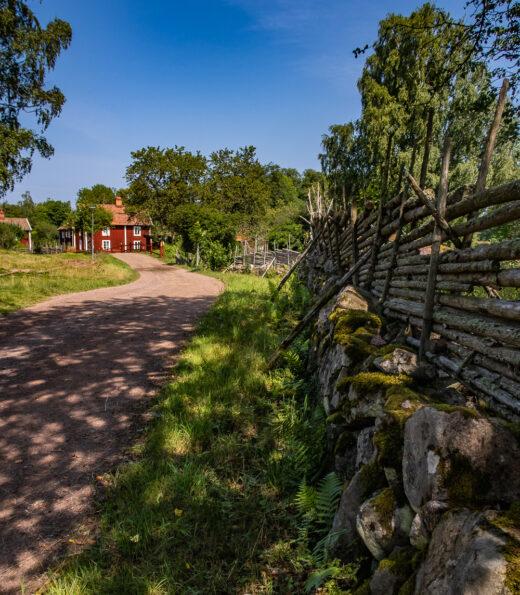 Gärdsgård vid Stensjö by