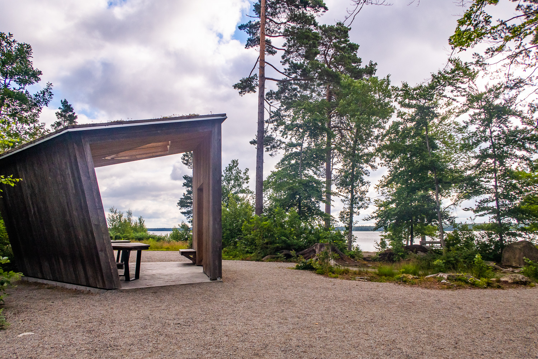 Vindskydd vid Åsnens nationalpark