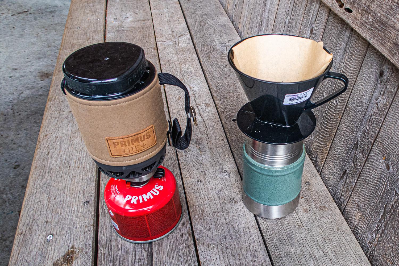Koka kaffe på gaskök
