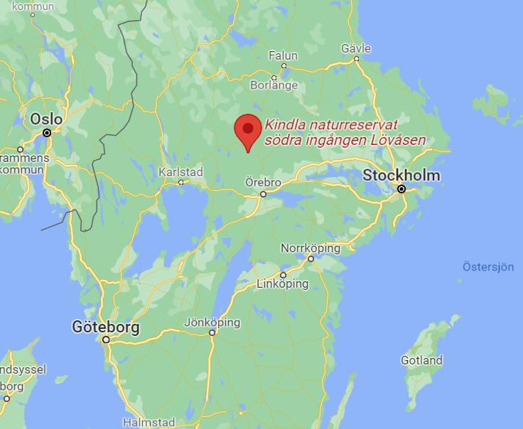 Karta Kindla naturreservat