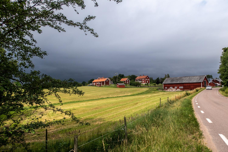 Bondgård vid vandring på Torpön