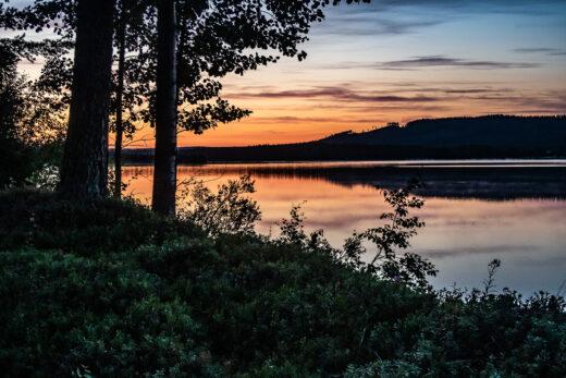 Solnedgång över Borgsjön
